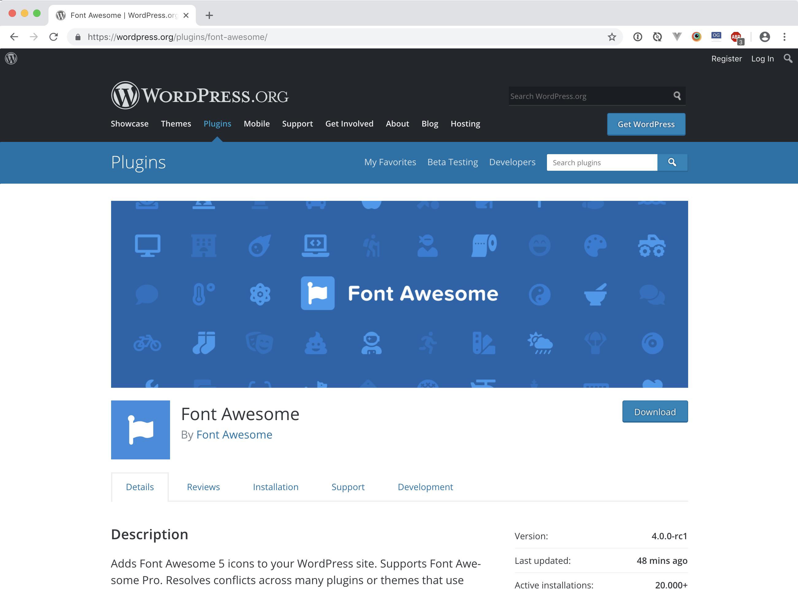 WordPress | Font Awesome